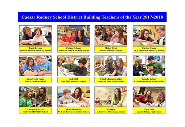CRSD ANNOUNCES DISTRICT TEACHERS OF THE YEAR